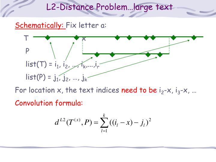 L2-Distance Problem…large text