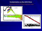 contamination on the acis filters2