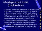 strategies and tasks explanation