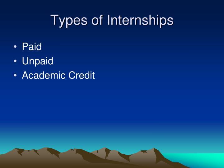 Types of internships