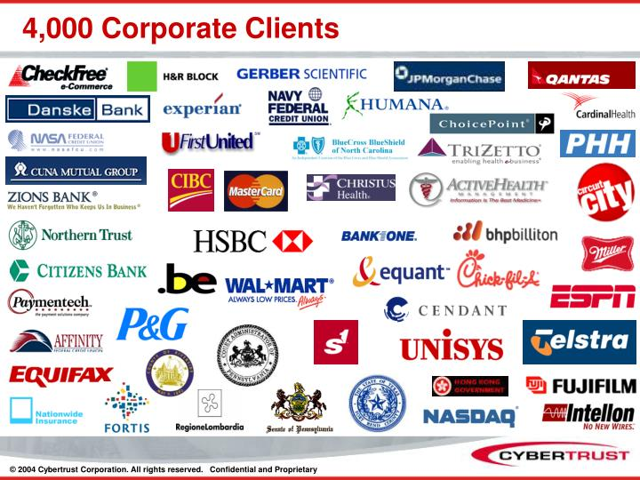 4,000 Corporate Clients