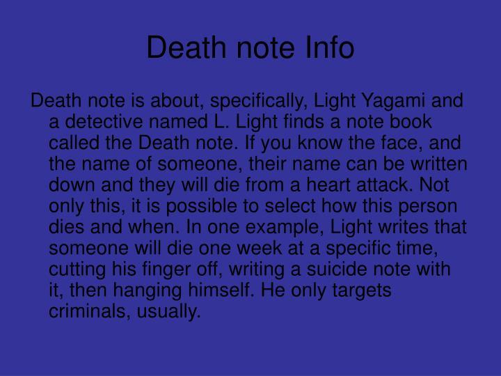 Death note Info
