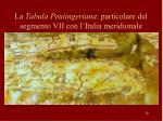 la tabula peutingeriana particolare del segmento vii con l italia meridionale