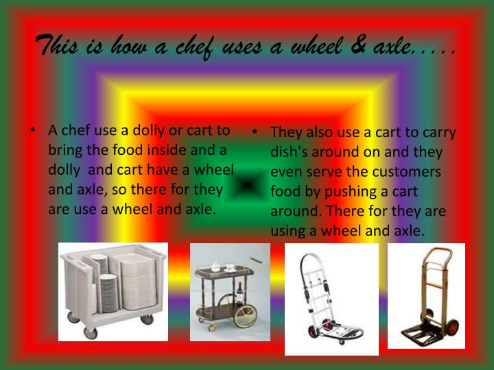 This is how a chef uses a wheel & axle.....