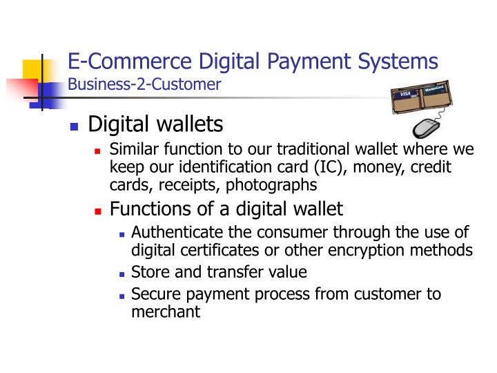 Ppt electronic payment systems powerpoint presentation id6261542 e commerce digital payment systemsbusiness 2 customer reheart Image collections