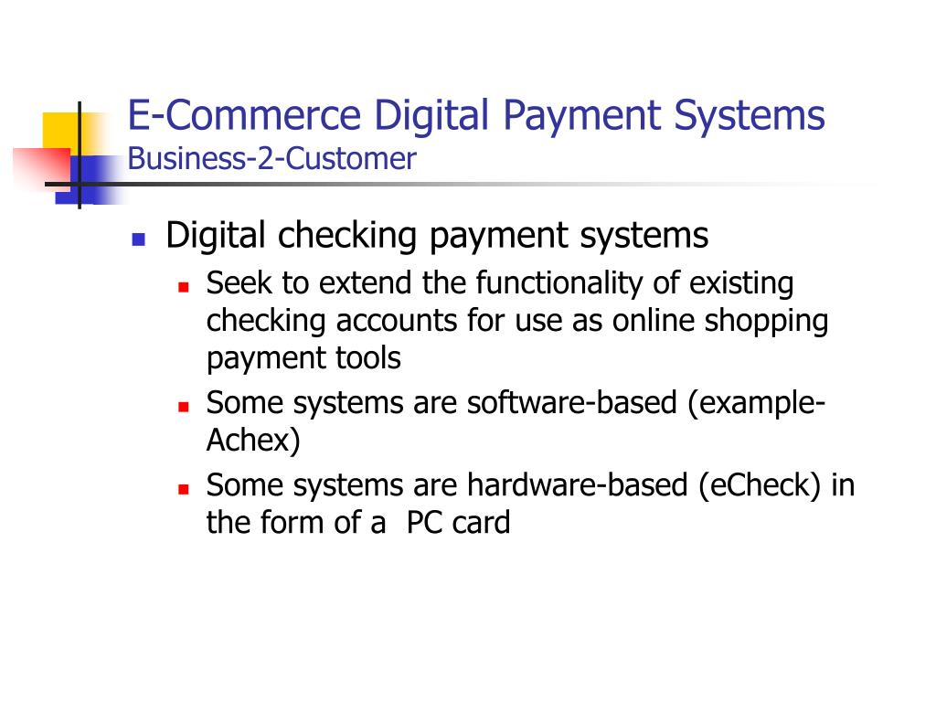 PPT - Electronic Payment Systems PowerPoint Presentation