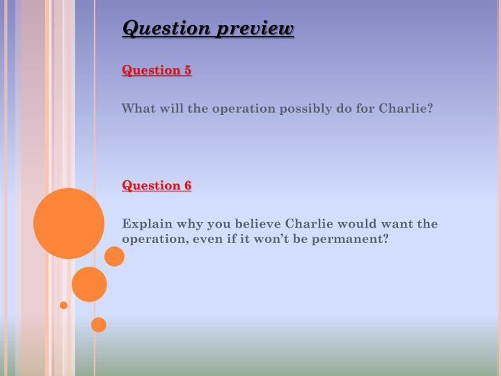 Question preview