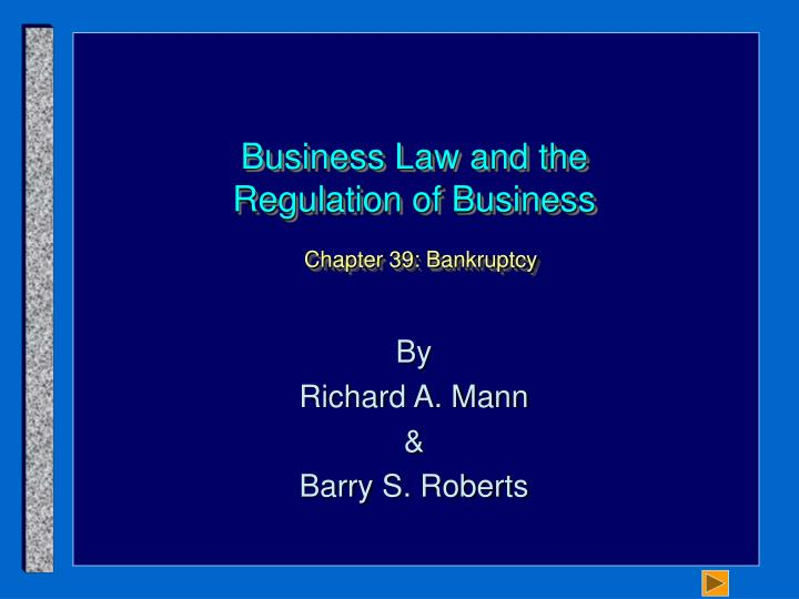 business law and the regulation of business chapter 39 bankruptcy n.
