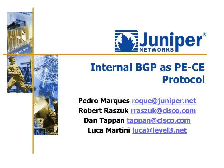 internal bgp as pe ce protocol n.