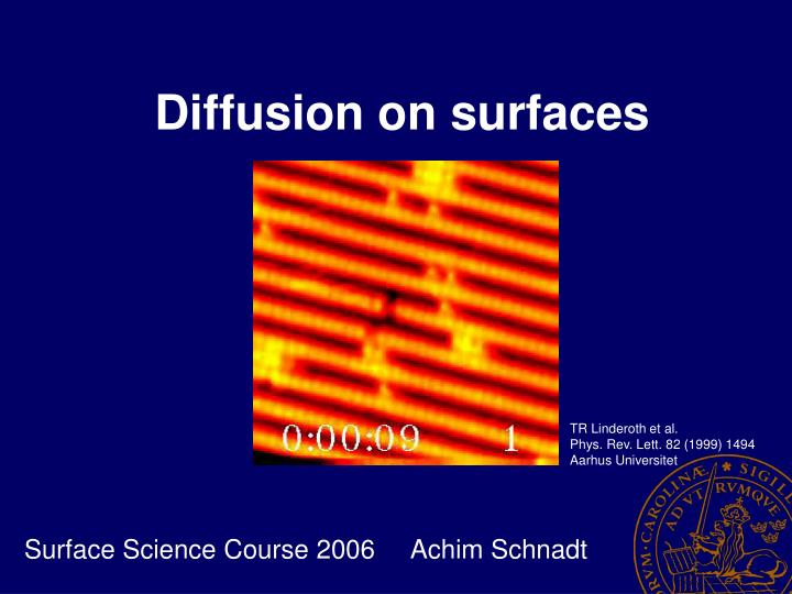 Diffusion on surfaces