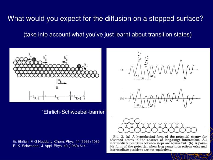 What would you expect for the diffusion on a stepped surface?