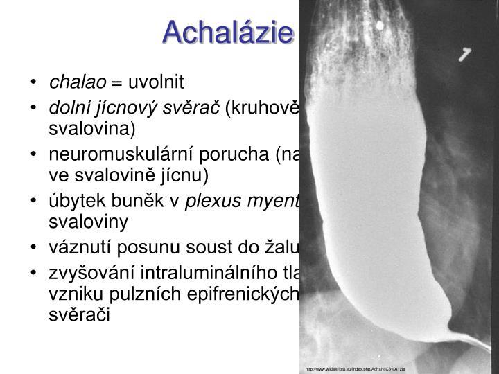 Achalázie