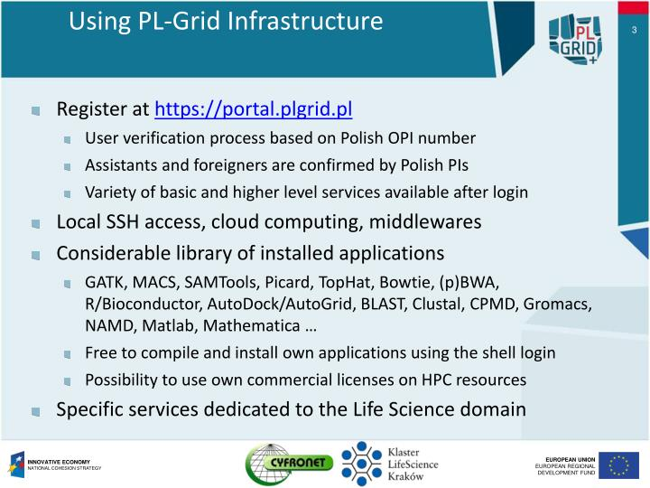 Using pl grid infrastructure