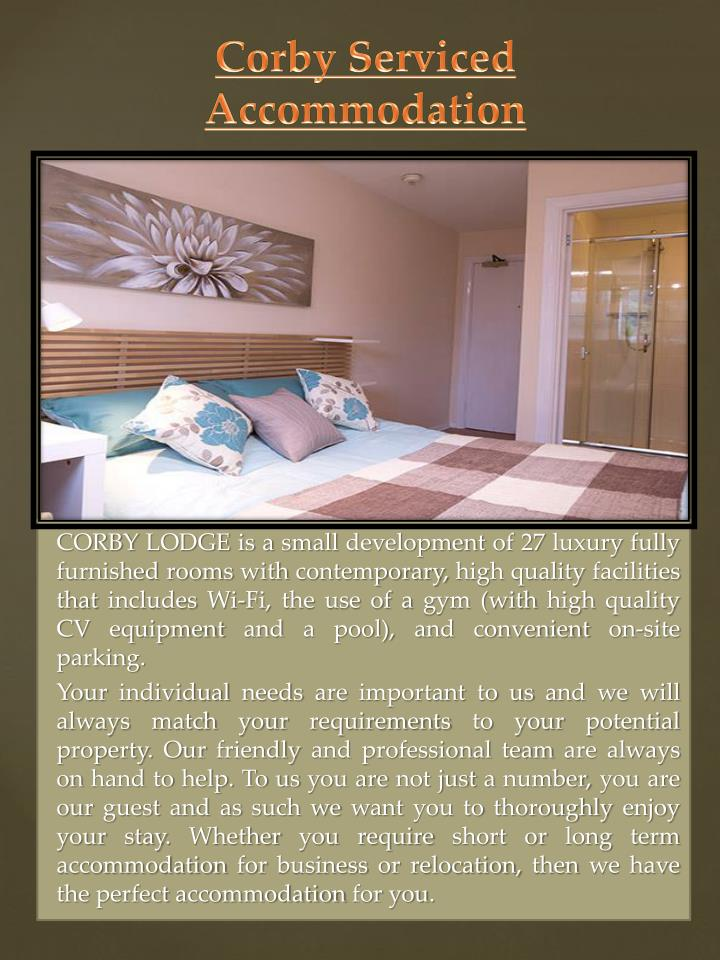 corby serviced accommodation n.