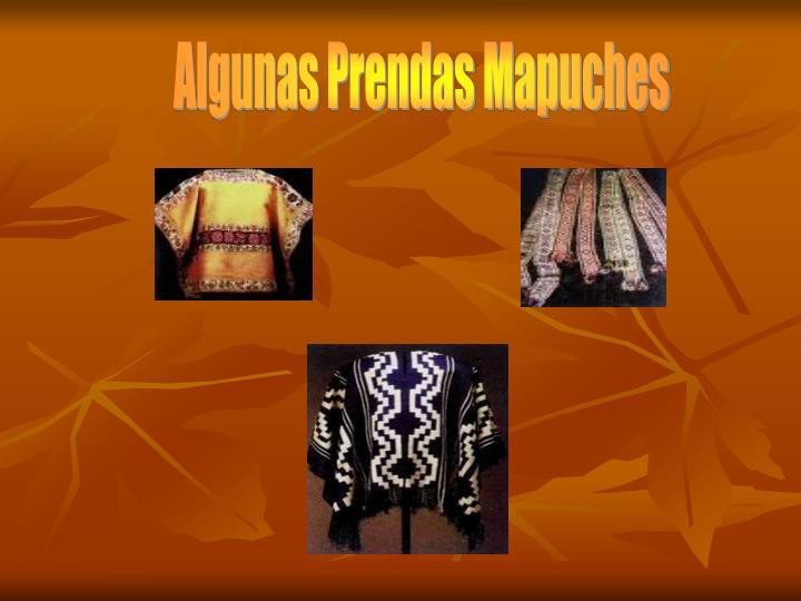 Algunas Prendas Mapuches