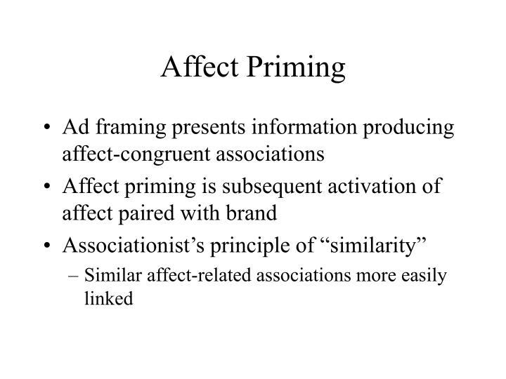 Affect Priming