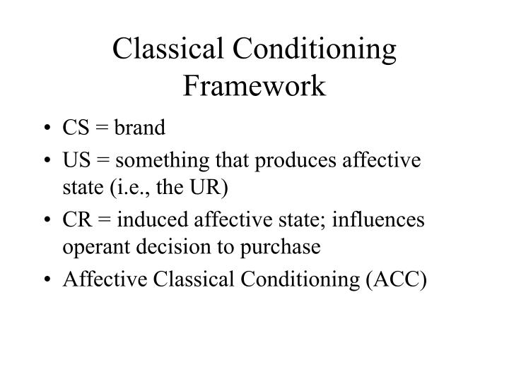 Classical Conditioning Framework