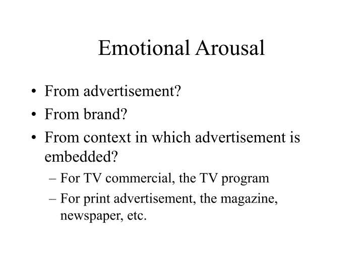 Emotional Arousal