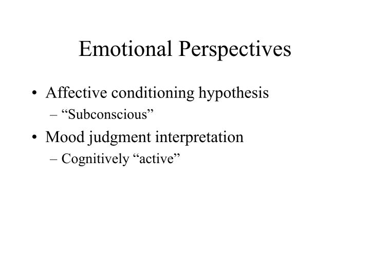 Emotional Perspectives