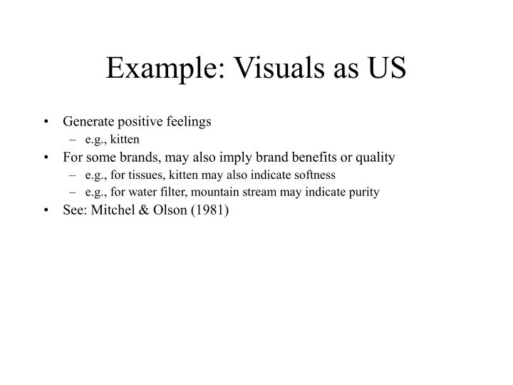 Example: Visuals as US