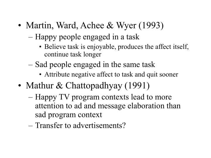 Martin, Ward, Achee & Wyer (1993)
