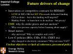 future drivers of change