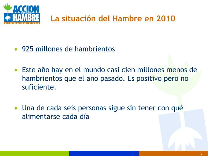La situaci n del hambre en 2010