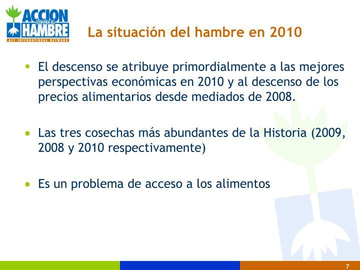 La situación del hambre en 2010