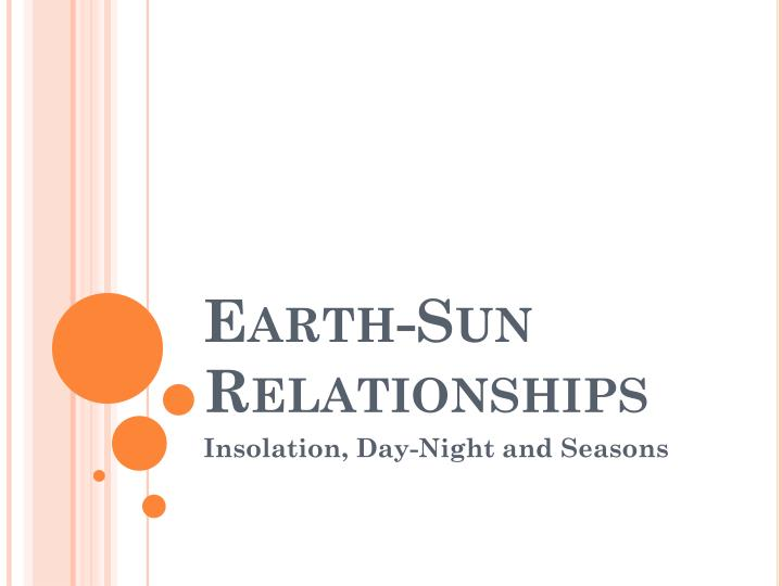 Earth sun relationships