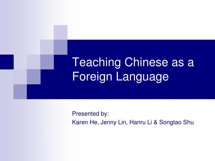 teaching chinese as a foreign language n.