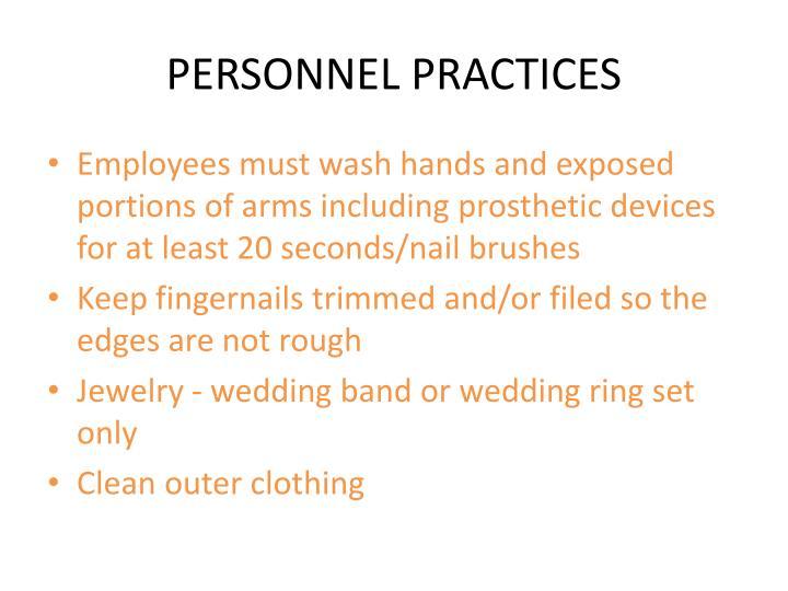 PERSONNEL PRACTICES