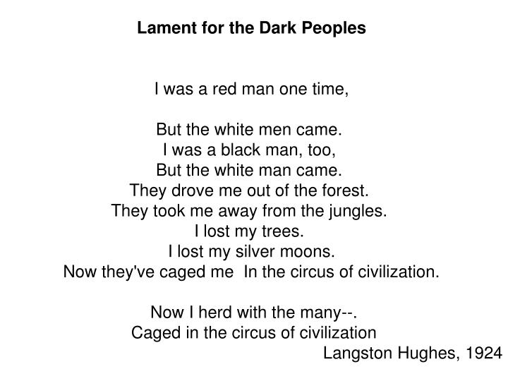 Lament for the Dark Peoples