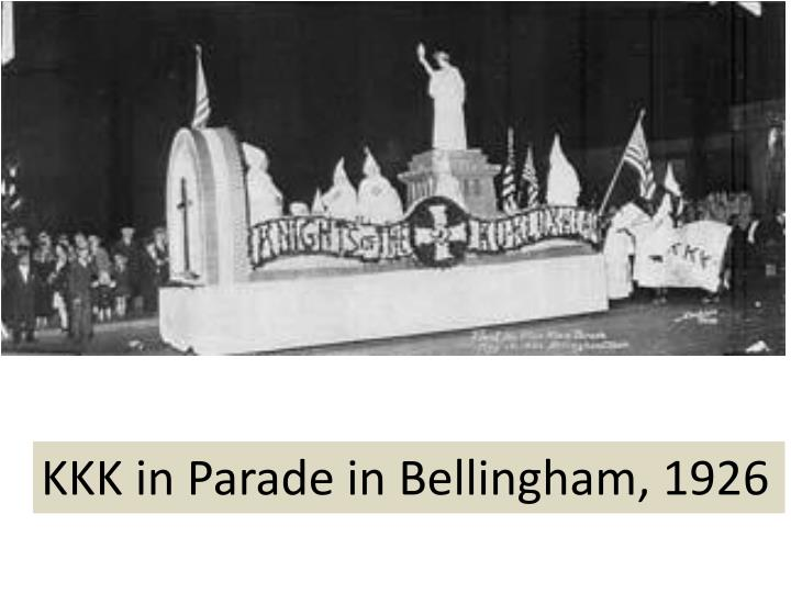 KKK in Parade in Bellingham, 1926