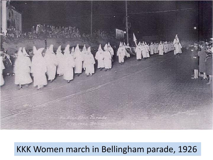 KKK Women march in Bellingham parade, 1926