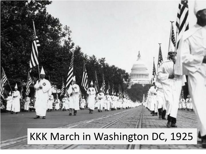 KKK March in Washington DC, 1925