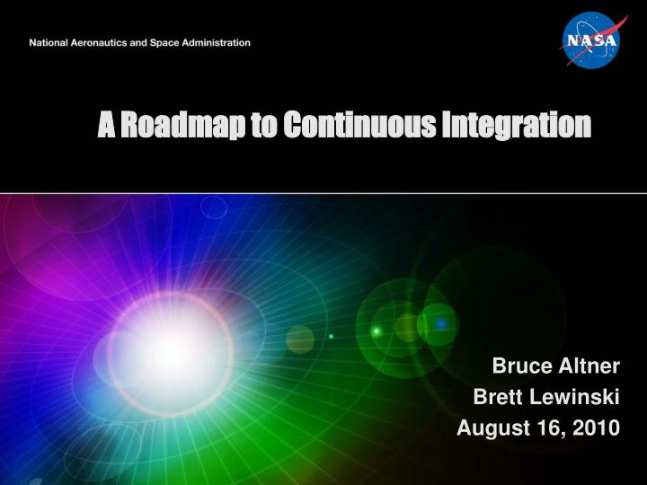 a roadmap to continuous integration n.