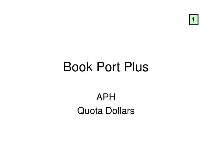 book port plus n.