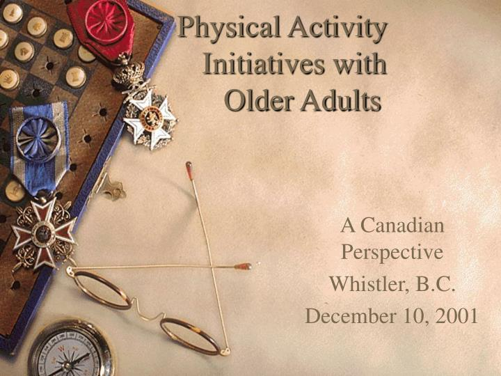 physical activity initiatives with older adults n.