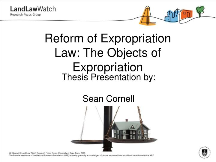 reform of expropriation law the objects of expropriation n.
