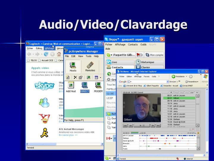 Audio/Video/Clavardage