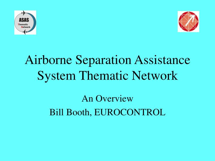 airborne separation assistance system thematic network n.