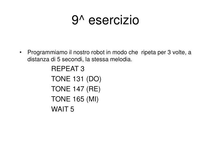 9^ esercizio