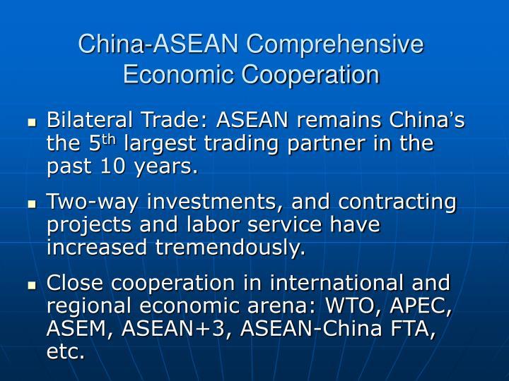 China-ASEAN Comprehensive Economic Cooperation