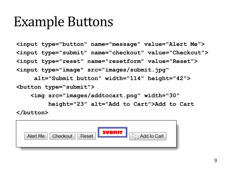 Example Buttons