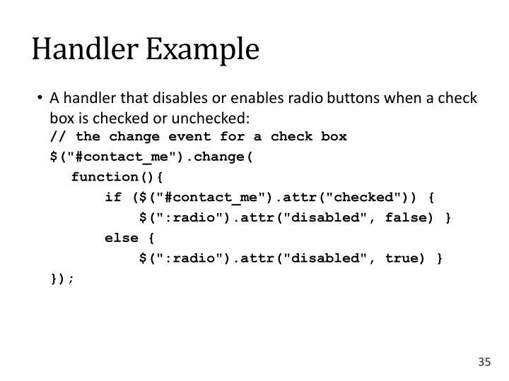 Handler Example