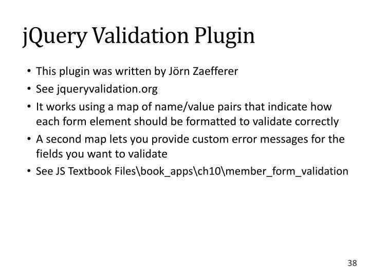 jQuery Validation Plugin