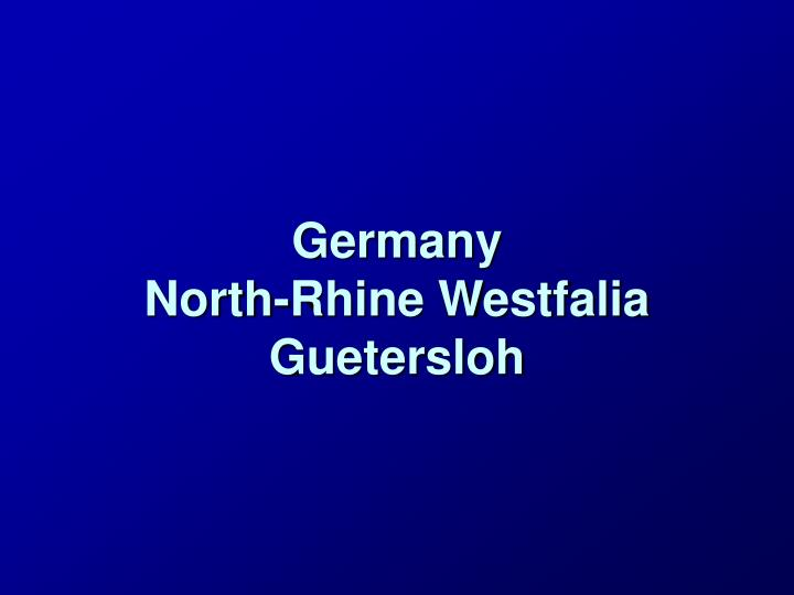 germany north rhine westfalia guetersloh n.