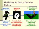 guidelines for ethical decision making