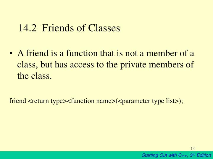 14.2  Friends of Classes