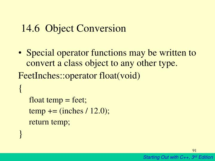 14.6  Object Conversion